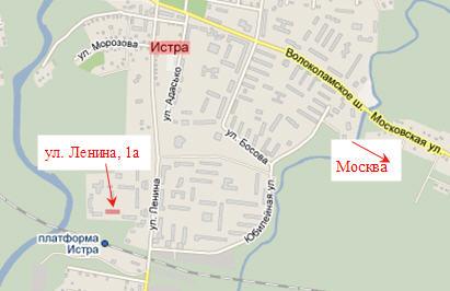 Истринский район схема