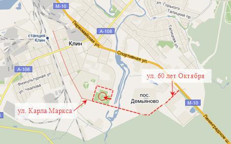 Схема проезда к БТИ Московской
