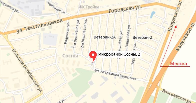Проезд к офису Росреестра - Троицк, мкр Сосны, 2